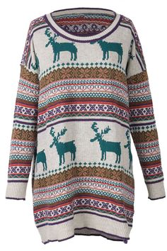 Holiday Sale, $32.99! Free shipping & Easy Return + Refund! This Going Out Christmas Jacquard Sweater is detailed with reindeer pattern and warm fit. Take this piece at Cupshe.com
