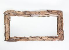 Mirror - wooden frame - exotic look