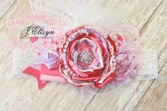 light Pink lavender vintage headband by JElisynBoutique on Etsy, $25.50