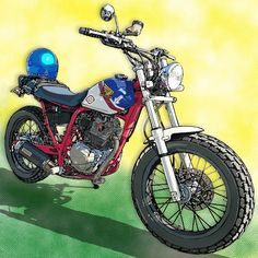Bike Builder, Flat Tracker, Draw On Photos, Bicycle Art, Image Sources, Motorcycle Style, Cafe Racer, Vintage Bikes, Art Music
