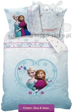 Disney Frozen bedding set with Elsa and Anna #Disney_frozen #elsa_bedroom #disney_frozen_bedding