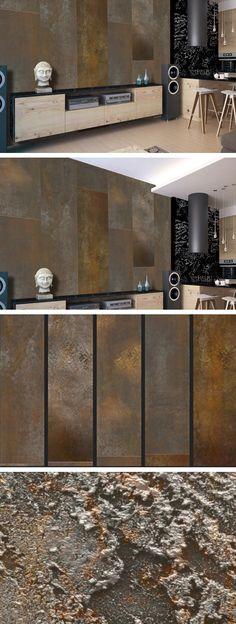 PURO TAPETE | Realistische Tapete ohne Rapport und Versatz | Kein sich wiederholendes Muster | 10m VLIES Tapetenrolle