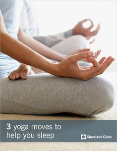 Try these 3 calming #yoga moves to help you #sleep better.