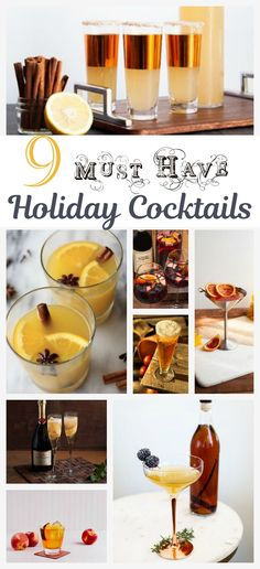 9 Must Have Holiday Cocktails
