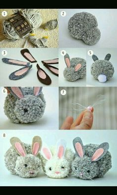 Kids Discover Trends: Pom pom - Me (Lele) he and the kids crafts for kids for teens to make ideas crafts crafts Kids Crafts Cute Crafts Craft Projects Arts And Crafts Bunny Crafts Craft Tutorials Cute Diys Rabbit Crafts Easter Crafts For Adults Bunny Crafts, Easter Crafts For Kids, Cute Crafts, Diy For Kids, Diy And Crafts, Easter Ideas, Rabbit Crafts, Decor Crafts, Easy Crafts To Sell