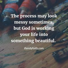 Untitled..it is but trust in the process for beautiful things and changes for the better you and the personal relationship with him will become closer threw the messiness of your life ❤