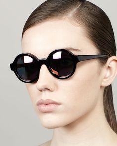 Frieda Mirrored Round Sunglasses