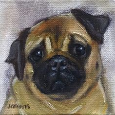 Custom Dog Portraits -Oil Painting by GrassRootsStudio on Etsy SMALL PAINTING WALL ART FINE ART HOME DECOR DOG LOVER GIFT IDEA MEMORY PUG DOG PUPPY CUTE ANIMALS DIY