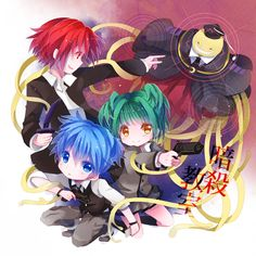 Assassination Classroom, chibi mode.