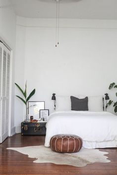 White space, wood, and plants