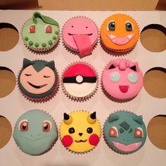 Fondant Pokemon cupcakes!