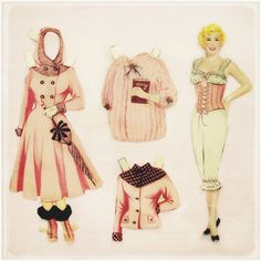 doris day paper doll?! be still my heart.
