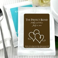 Personalised Coffee Favours from www.aweddinglessordinary.co.uk