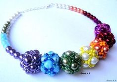 As the ball sewn seed beads Beaded Beads, Beaded Necklace, Beaded Bracelets, Pendant Necklace, Necklaces, Beaded Jewelry Designs, How To Make Beads, Bead Weaving, Jewelry Accessories