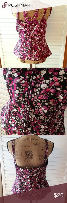 WHBM Top NWOT Cute Cami WHBM. Size 12. NWOT. Cotton spandex White House Black Market Tops Camisoles