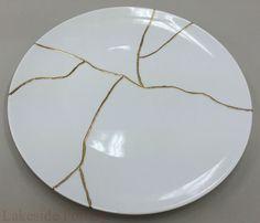Kintsugi plate ... @ivannairem .. https://tr.pinterest.com/ivannairem/ceramics-pottery-ll/