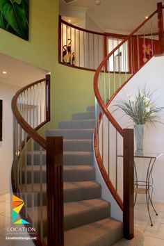 Find This Pin And More On ديكورات سلالم By Locationdesign1. Contemporary  Stair Railings For Homes : Wood ...
