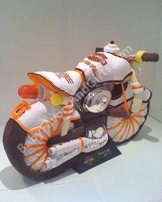 Harley Davidson Diaper Cake - 9990221 - Baby Boy - Diaper Cakes - by Babyfavorsandgifts
