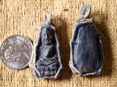 Handcarved Thai Buddhist Amulet Pendant with Woven by animadesigns (Home & Living, Spirituality & Religion, Prayer Beads & Charms, Lucky Charms & Amulets, thai, buddha, thailand, amulet, pendant, buddhist, charm, macrame, wood amulet, carved amulet, buddha amulet)