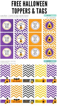 FREE Halloween Toppers and Tags! #halloween #printables