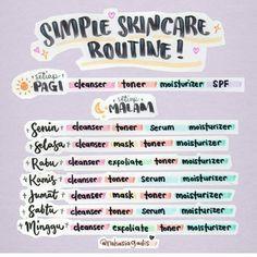 Buat remaja yg binggung kapan aja untuk pake skin care😂 by IG: Oily Skin Care, Moisturizer For Dry Skin, Face Skin Care, Cleanser And Toner, Tinted Moisturizer, Oily Skin Routine, Best Skin Care Routine, Skincare Routine, Skin Care Routine For Teens