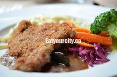 Loghouse Hunter's Schnitzel House Restaurant, Vancouver Island, Log Homes, Meatloaf, British Columbia, Food, Timber Homes, Wood Homes, Essen