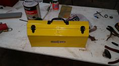 Montgomery Ward tool box restoration