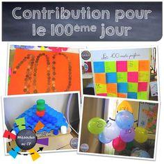 Mise à jour pour le 100ème jour d'école avec une contribution très riche et colorée !