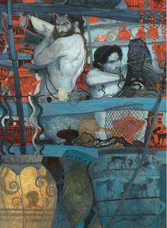 Svetlin Vassilev «Greek Mythology»  Иллюстратор Svetlin Vassilev Мифологические притчи Страна Греция Год издания 2006, 2007 Издательство Papadopoulos Publishing