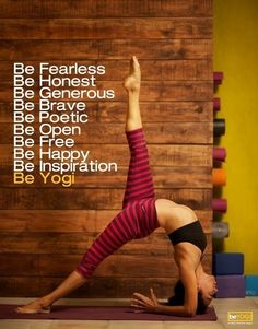 Be Bitch; Be Lover; Be Child; Be Mother; Be Sinner; Be Saint; Be Alanis  #meredithbrooks  #yoga #exercise