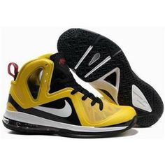 bf863460690 www.anike4u.com  Nike LeBron 9 P.S. Elite Yellow White Black Kobe Shoes