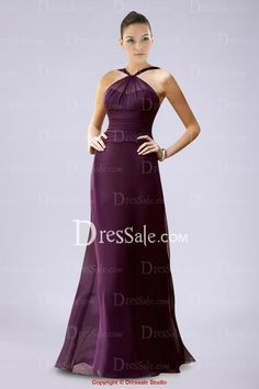 Distinctive Chiffon Sweetheart Floor-length Bridesmaid Dress with Pleats