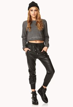 High Wattage Cropped Sweatshirt | FOREVER21 - 2000128732