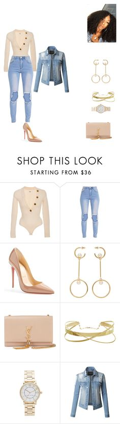 """""""flawed in all"""" by renyawhite20004 ❤ liked on Polyvore featuring Khaite, Christian Louboutin, Chloé, Yves Saint Laurent, Marc Jacobs and LE3NO"""