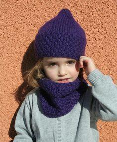Ensemble bonnet + snood pour Lou-Ann (tutos)