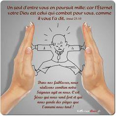 La Bible - Versets illustrés - Josué 23:10 - Un seul homme d'entre vous en poursuit mille; car l'Éternel, votre Dieu, est celui qui combat pour vous, comme il vous l'a dit.