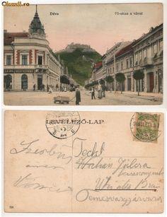 deva romania   Romania,Deva Fo-utcza a varral,Strada principala,1906. - Okazii ...