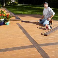Concrete Patios, Deck Over Concrete, Patio Slabs, Wood Patio, Brick Patios, Cement Patio, Concrete Steps, Concrete Slab, Diy Deck