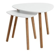 End table TAPS white/bamboo Coffee And End Tables, Coffe Table, Home Decor Furniture, Living Room Furniture, Taps, Contemporary Side Tables, White Side Tables, Lounge Design, Scandinavian Home