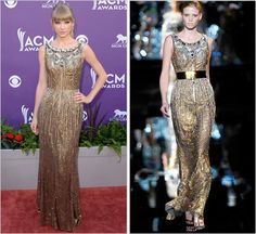 48th Annual Academy of Country Music Awards   Las Vegas, Nevada   April 7, 2013 Dolce & Gabbana Fall 2007 RTW I feel like I've just stepped into a Swift time machine! Reaching all the way back to '07...