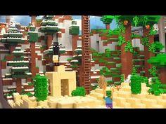 Custom LEGO Minecraft display walkthrough! - YouTube
