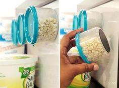 contenant aimant réfrigérateur noix
