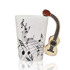 Click to open expanded view Wintheword Musical Notes Design Ceramic Drink Tea Coffee Mug Cup (Acoustic Guitar)