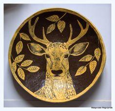 Małgorzata Węgrzyniak Patera Jeleń Małgorzata Węgrzyniak polandhandmade.pl  #małgorzatawęgrzyniak #polandhandmade #ceramic #ceramika #pottery #plates #sgraffito