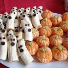 Orange Pumpkins & Banana Ghosts