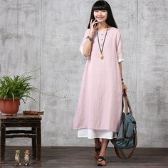 Hey, I found this really awesome Etsy listing at https://www.etsy.com/uk/listing/239130045/loose-fitting-long-maxi-dress-short