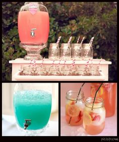 coral & aqua wedding refreshments