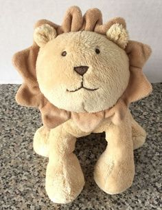 "Jacadi Paris Plush Lion Camel Brown 7"" Stuffed Animal Baby Toy NEW Tags  #Jacadi"