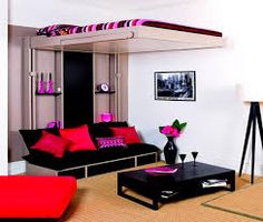 A way to have your couch and comfy area and still and have your bed too with just some space