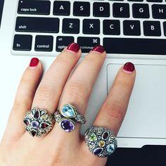 New week new jewels  #sterlingsilverjewelry #sterlingsilver #silverjewelry #silver #jewelry #ring #silverring #gemstone #gemstonejewelry #gemstonering #garnet #amethyst #bluetopaz #peridot #citrine #armparty #stacked #stackedrings #jewelrygram #instajewelry #instafashion #instastyle #instadaily #fashion #fashionblogger #stye #trend #cirquejewels